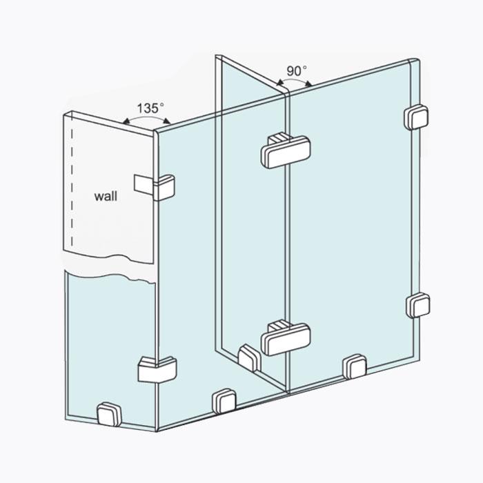 CKS Glass Hardware | CKS-721 Glass Connector Malaysia