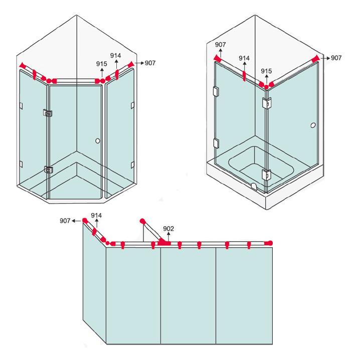 Cks Glass Hardware Cks 901 Shower Stabilizer Malaysia