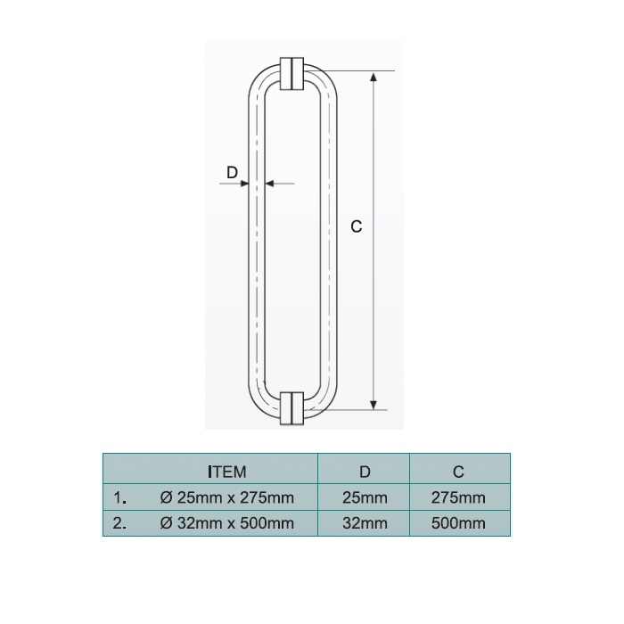 Cks Glass Hardware Cks 627 Glass Door Handle Malaysia