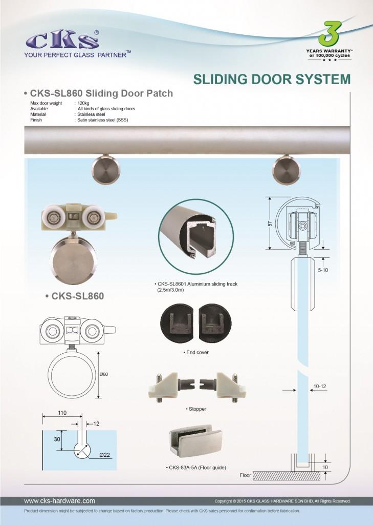 Cks Glass Hardware Cks Sl860 Sliding Glass Door Malaysia