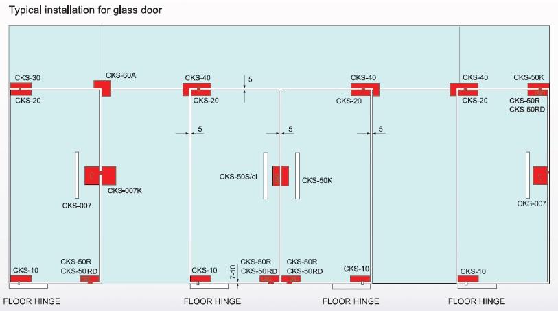 Cks Glass Hardware Floor Hinge Supplier And Distributor