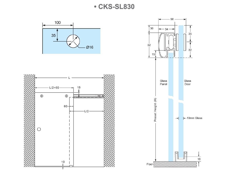 Cks Glass Hardware Cks Sl830 Shower Sliding Door System