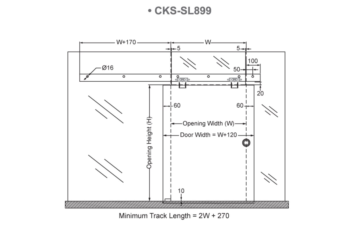 Cks Glass Hardware Cks Sl899 Soft Close Sliding Door System