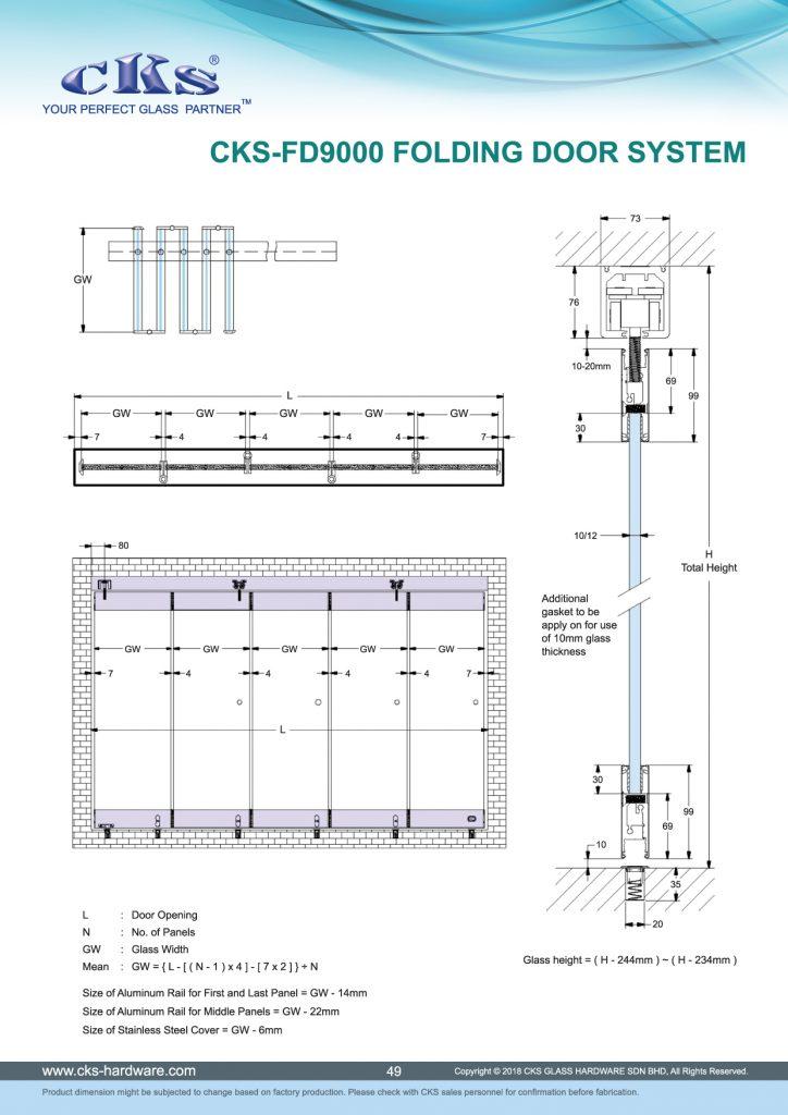 Cks Glass Hardware Folding Door System